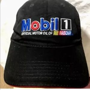 Mobile Oil Nascar Baseball Cap Black With Design